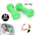 Dumbbells Set 1.5kg Weights Strength Home Gym Workout Aerobic Training Exercise