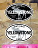 "Yellowstone National Park Wyoming Decal Sticker Vinyl Moose 3.8"" - 2 for 1"