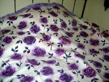 "Vintage 60's Acrylic Full 72"" x 90"" Patio Rose Bedspread NEW by Beacon Purple**"