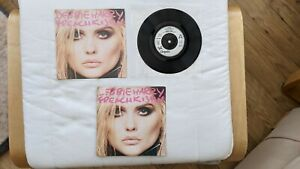 "Debbie Harry – French Kissin - UK 7"" POSTER Single CHS 3066 - Blondie"
