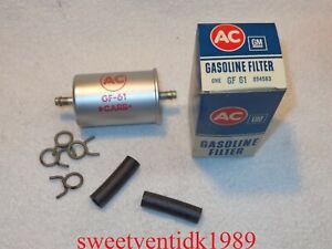 'NOS' AC / GM Gasoline / Fuel Filter GF-61......w/ Original Clamps..... GM 85458