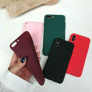 NEW For Apple Phone 6 7 8 Plus XR X XS MAX Matte TPU Slim Case Cover With Box