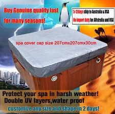 hot tub spa cover cap size 207cmx207cmx30cm hot tub cover jacket