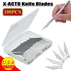 100 PCS for X-ACTO Knife Scoring Sharp Blades EXacto Set Pack Crafts Arts