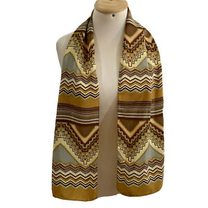 ROBERTO CAPUCCI STRIPES LOGO BEIGE Polyester Scarf  50/21 In #A66