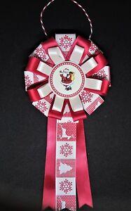 Handmade Family Christmas Rosette, Decoration or Corsage