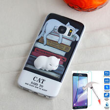 Samsung Galaxy S8 Case New Shockproof Squishy R-Cat Cover + Glass Protector