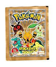 1 X Pokemon Sticker Merlin Collection Tüte mit 6 Stickern Von 2001