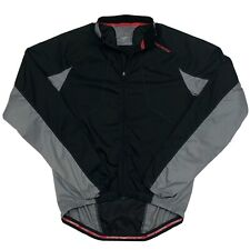 Specialized Mens Size Large Black Gray Polyester Cycling Jacket Back Pocket