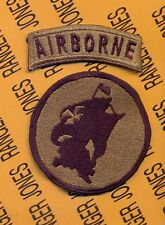 School of the Americas Special Operations Airborne OD green reversed SOA patch