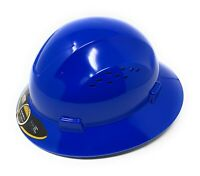 HDPE  BlueFull Brim Hard Hat with Fas-trac Suspension