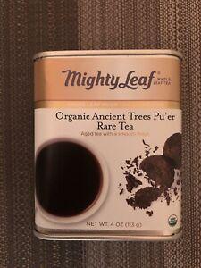 Mighty Leaf Tin Organic Ancient Trees Pu'er Rare Tea. 4oz. Expires 2023