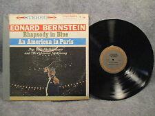 33 RPM LP Record Leonard Bernstein Gershwin Rhapsody In Blue Columbia MS 6091
