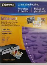 "Fellowes CRC52454 Laminating Pouches 9"" x 11.5"" 100 Sheets"