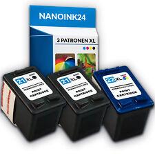 3x Tintenpatronen für  2x HP 21 XL und 22 XL Deskjet  F380  F4180 F2180 bei Nano