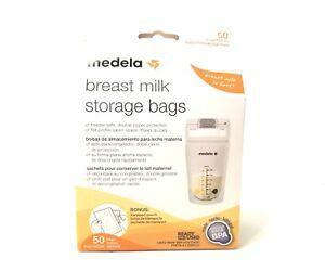 Medela Breast Milk Storage Bags 6 oz 50 ct with Bonus Transport Pouch