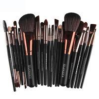 Pro 22pcs Makeup Cosmetic Brushes Set Powder Foundation Eyeshadow Lip Brush Tool