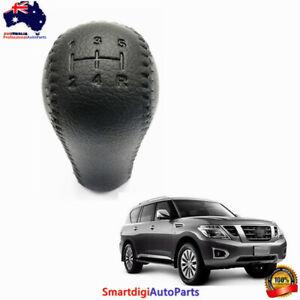 Leather Black Gear Knob For Nissan Patrol GU GQ Series with Manual Transmission
