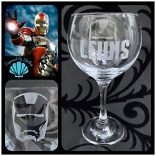 Marvel Iron Man Gin & Tonic Balloon Glass Personalised Christmas Gift Any Name