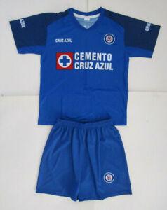 Kid's Cruz Azul Home Soccer Uniform, New Blue White Red FMF Club Deportivo Sz 12