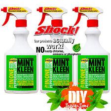 OzKleen Mint Kleen 3pk 500ml Spray Household Germ Killer All Purpose Cleaner