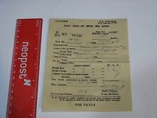Bombay Baroda Central India Railway Ticket 1951 Excess Fare Unbooked Luggage