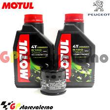 TAGLIANDO OLIO + FILTRO MOTUL 5100 10W40 PEUGEOT 400 METROPOLIS 2013