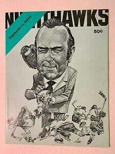 1975 (11/7) New Haven Nighthawks vs Richmond Robins AHL Hockey Program EX/NR MT+