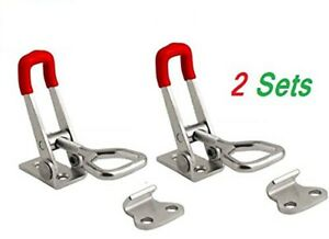 2 Pack Steel Toggle Latch Catches Adjustable Lock Clamp For Boxes Case A700