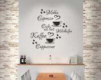 Wandaufkleber Wandtattoo Küche Bad Wohnzimmer Kaffee 20 Stück Mokka Café 339