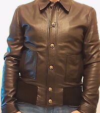 VERSUS VERSACE lion button leather jacket size 50 (M) in black