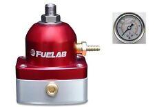 Regulador De Presión Combustible EFI Fuelab serie 515 & Calibrador de presión (red) #51502-2