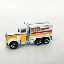 1981 Peterbilt Shell Tanker Truck White Matchbox Loose Diecast 1:80