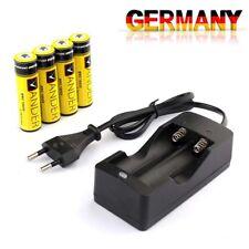 Neue 4X 18650 AKKUS  3.7V 6000mAh Li-Ionen batterie  +  18650 Akku -Ladegerät EU