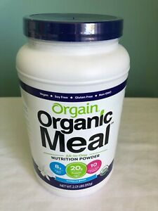 Orgain Organic Meal All-In-One Nutrition Powder Protein 2.01 lbs VANILLA BEAN