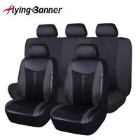 Universal Car Seat Covers set Black PU leather rear seat split 40/60 Waterproof