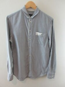 Emporio Armani Mens Shirt Size 15 1/2 M Long Sleeve Button Up Regular Fit Grey