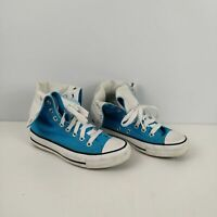 WOMENS CONVERSE BLUE ROLL DOWN HIGH TOP TRAINERS SNEAKERS UK 4 EU 36.5 SHOES