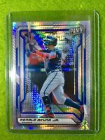 RONALD ACUNA JR PRIZM CARD JERSEY #13 BRAVES /99 SP REFRACTOR  2019 National VIP