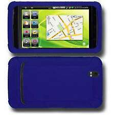 AMZER BLUE SILICONE SOFT SKIN JELLY BACK CASE PROTECTOR COVER FOR DELL STREAK 5