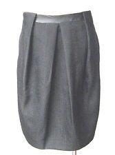 Massimo Dutti Ladies Size 8 Black leather trim Skirt , Fr36, UK 8