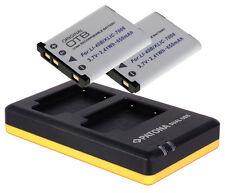 2 x Akku + Dual-Ladegerät für Rollei Sportsline 99 / 100 (NP45)