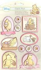 DISNEY Classic Winnie The Pooh 3D Stickers Baby Girl EK Success New