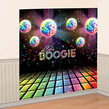 1970's 70's Party Disco Fever Boogie Plastic Wall Decorating Kit