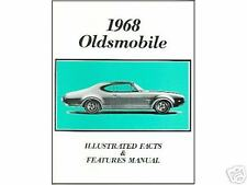 1968  68    OLDS 442/CUTLASS/F-85 FACTS MANUAL