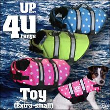 Toy POLKA DOT / dotless dog life jacket +cat lifejacket