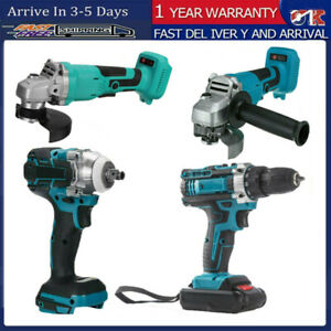 125mm Angle Grinder 520Nm Impact Wrench Brushless Cordless Grinding For Makita