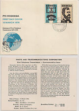 Rhodesia: 1976, Centenary of First Telephone Transmission, FDC