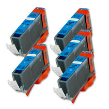 5 CYAN Printer Ink + smart chip for Canon CLI-221 iP4600 iP4700 MP560 MP620