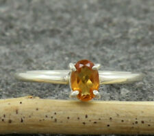 Natural Yellow Sapphire 925 Sterling Silver Wedding Handmade Ring US 4 to 15